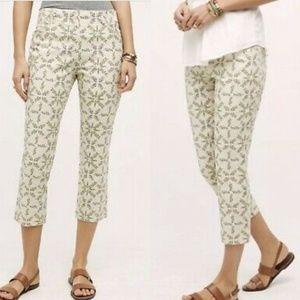 Cartonnier Leaf Print Ankle Pants